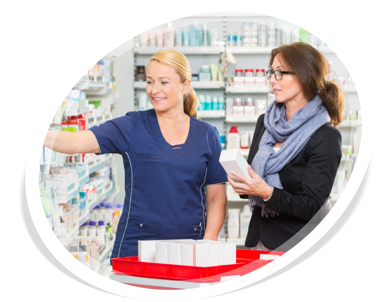 A customers selecting medicine